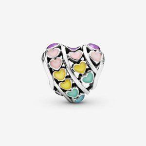 🆕Pandora Rainbow Hearts Charm